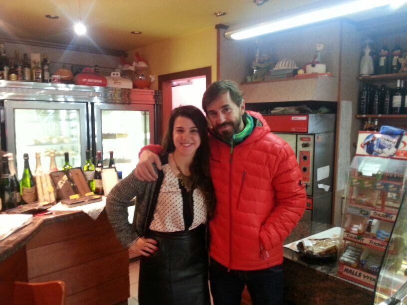 Amb el Santi Millán a la pastisseria