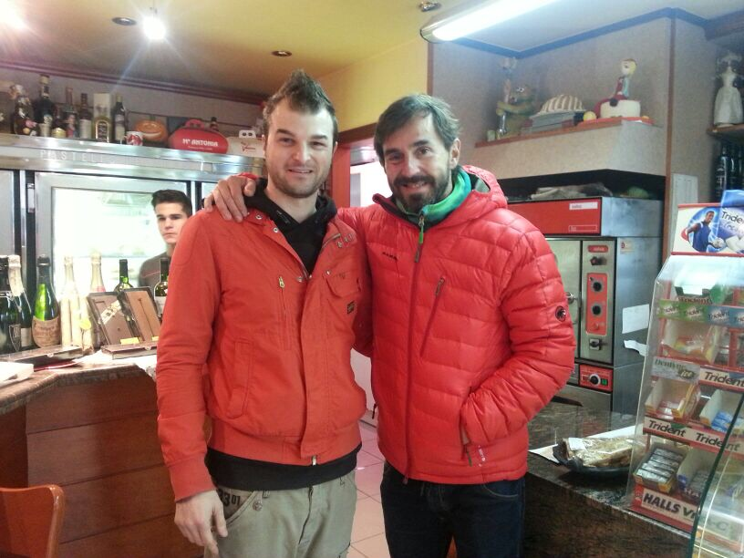 Amb el client Santi Millán