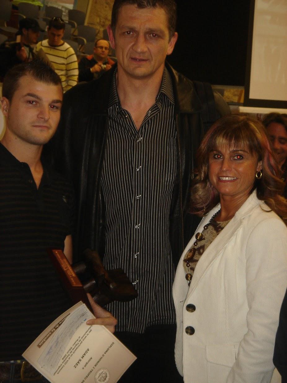 amb Andréi Xepkin, rebent el premi