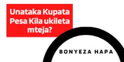 Unataka Kupata Pesa Kila ukileta mteja (