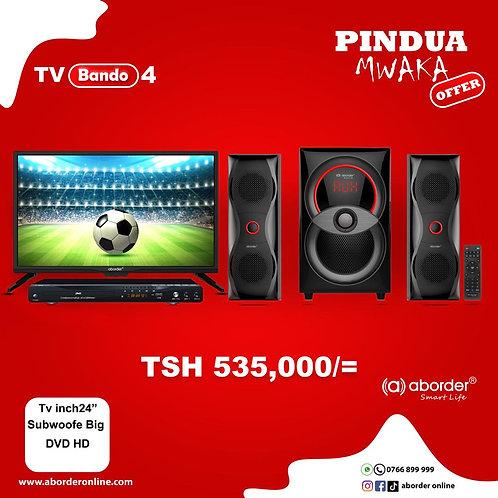 TV Bando 4 (TV inch 24, Big Subwoofer & DVD Player