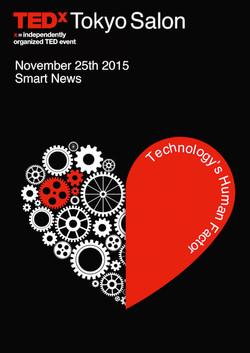 TEDx Tokyo salon 2016