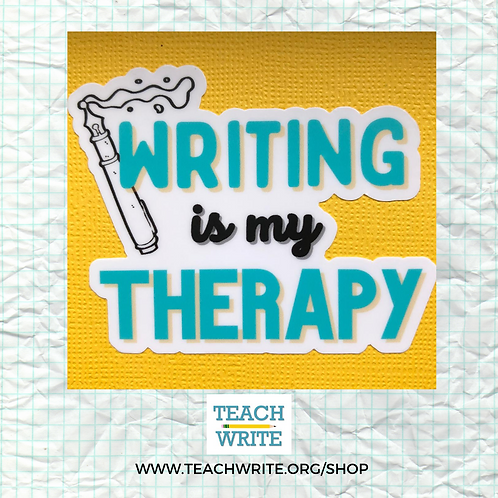 Writing is My Therapy Laser Cut Sticker