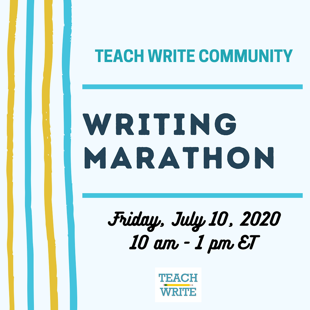 Teach Write Virtual Writing Marathon Announcement
