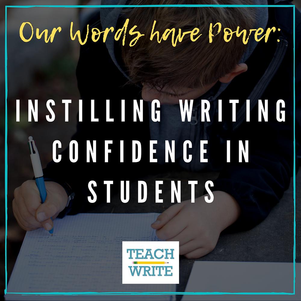 Writing confidence image