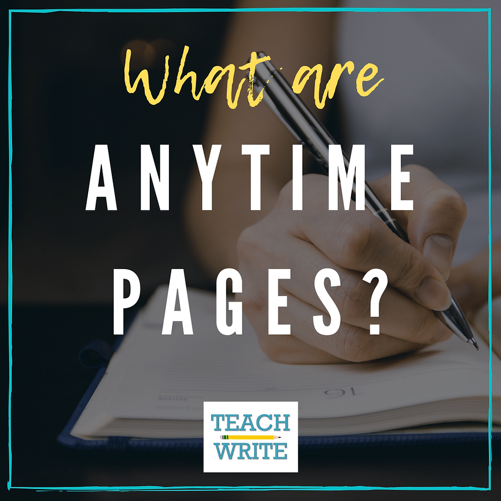 Blog post graphic: What are Anytime Pages?