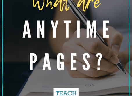 What are Anytime Pages?