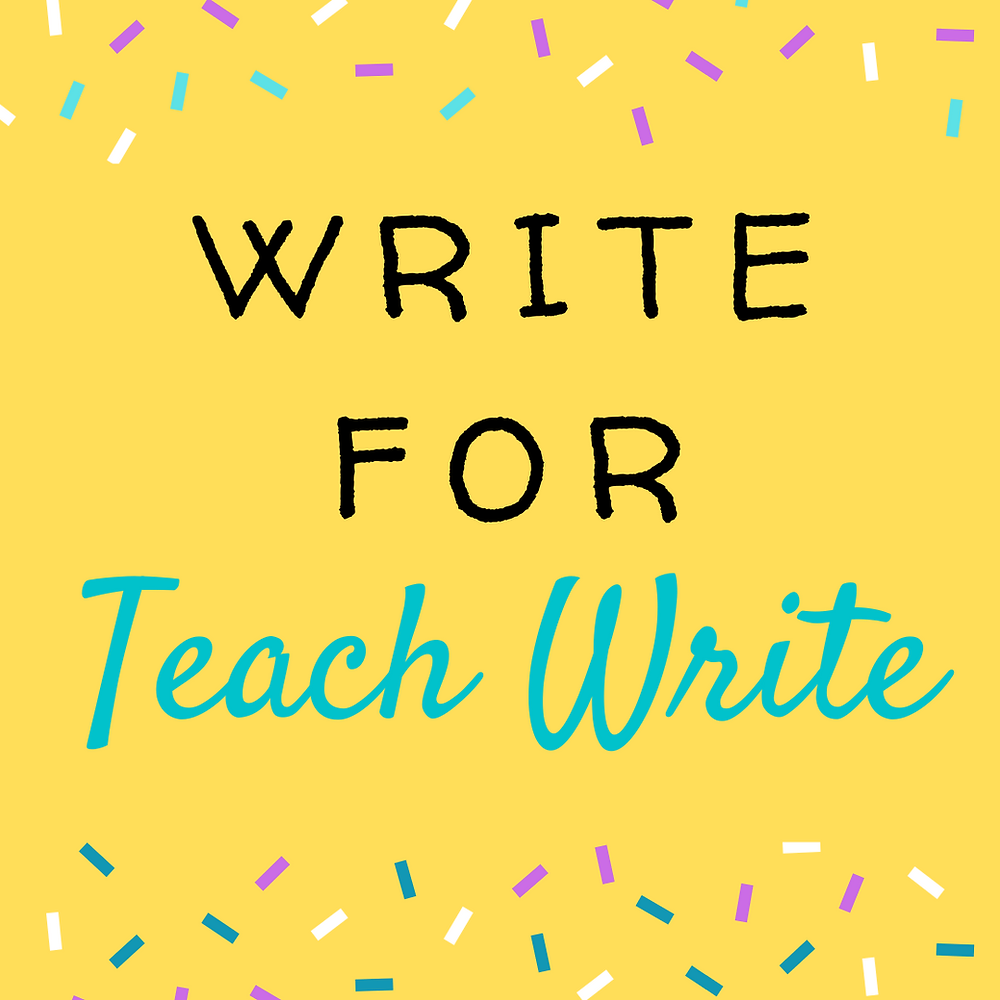 Write for the teach write blog image