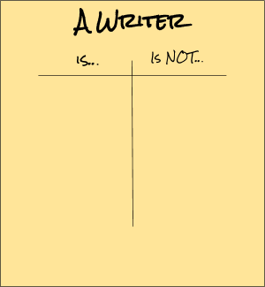 Defining a writer t-chart graphic