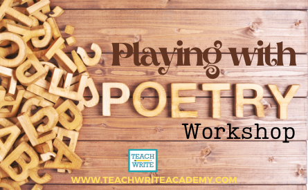 Playing with poetry workshop image