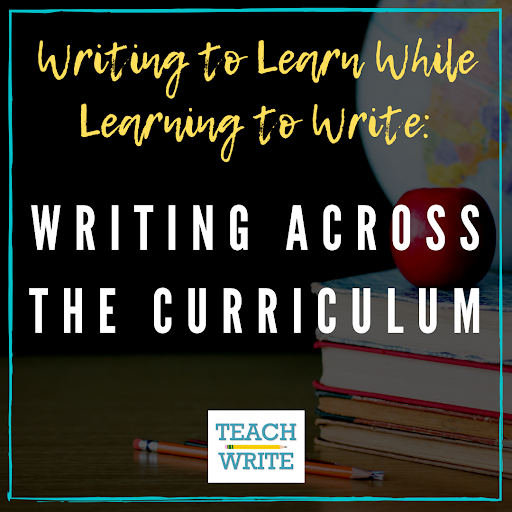 Writing across the curriculum post graphic
