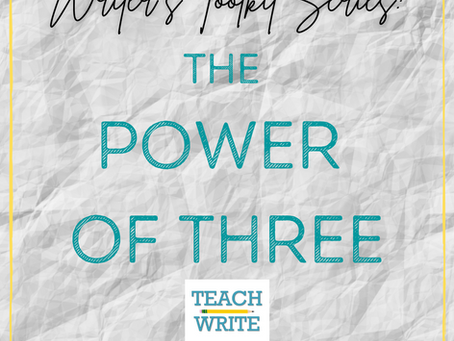 Balance Writing with the Power of Three {Writer's Toolkit Series}
