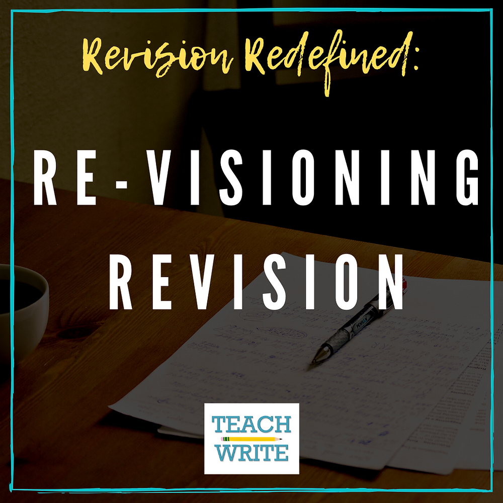 Title slide: Revision redefined; Re-visioning Revision