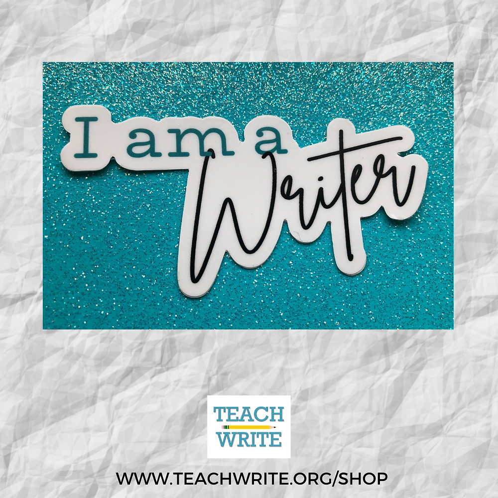 Image of I am a Writer Sticker from the Teach Write Sticker Shop