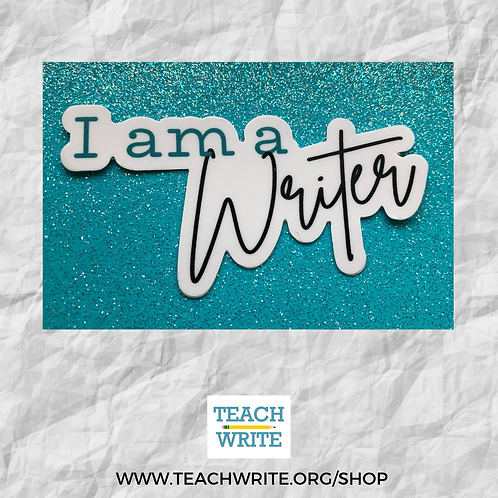 I am a Writer Laser Cut Sticker