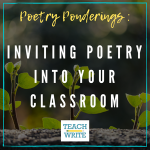 Poetry Ponderings Inviting Poetry into our Classrooms logo