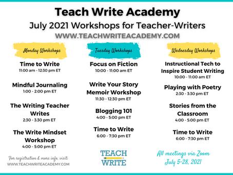 July Workshops for Teacher-Writers