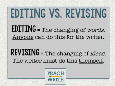 Editing & Revision: Defining the Difference