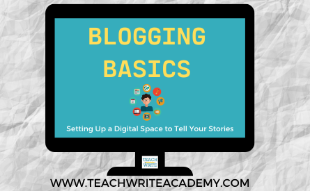 Blogging basics workshop image
