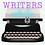 Thumbnail: Writers Write Kiss Cut Sticker
