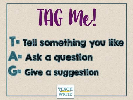 TAG Me!: Student to Student Feedback in Writing