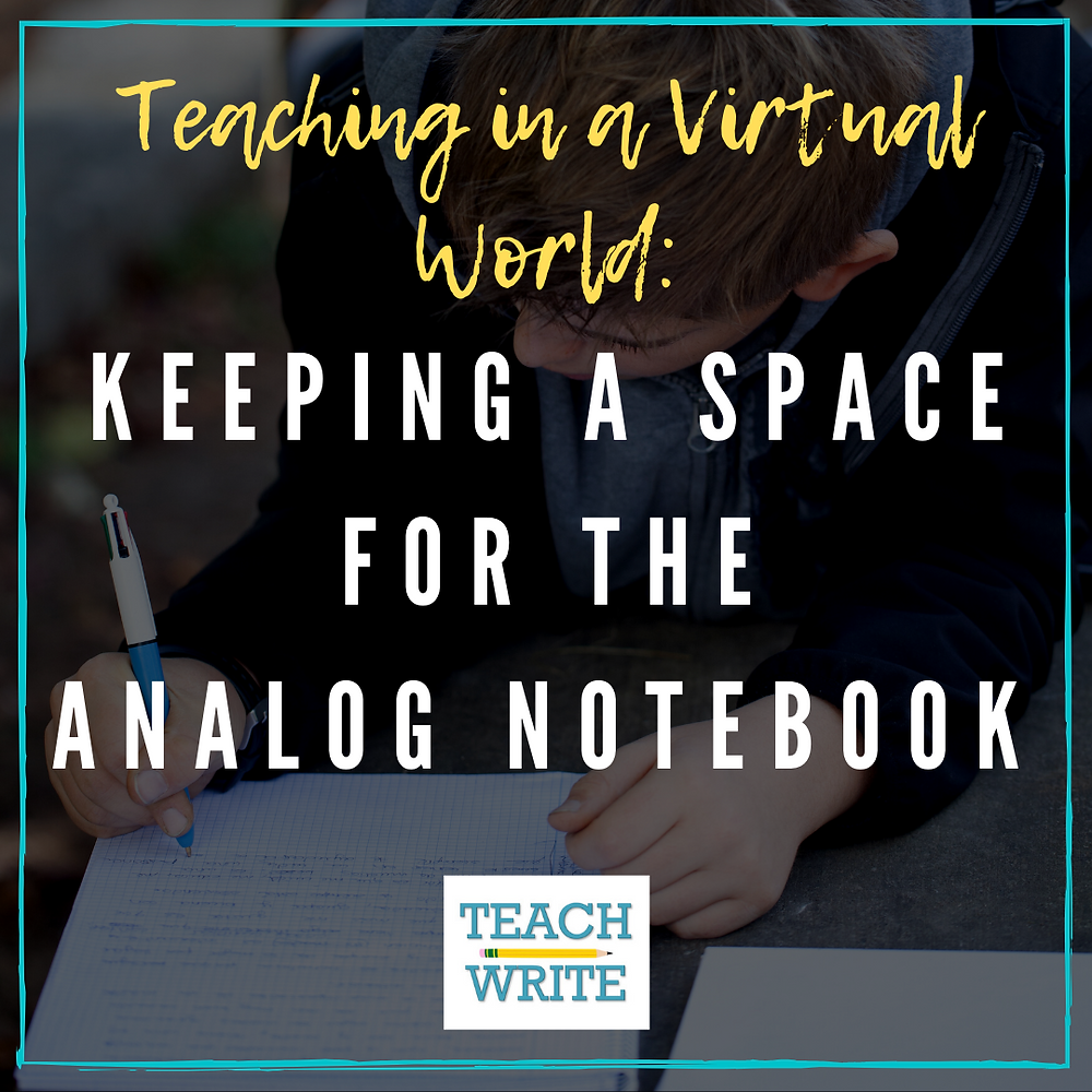 Blog post image for Keeping a space for the analog notebook