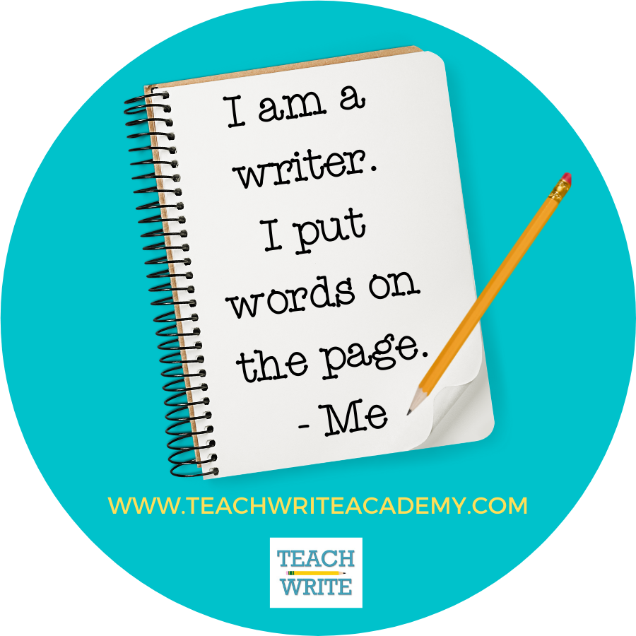 I am a writer mantra graphic