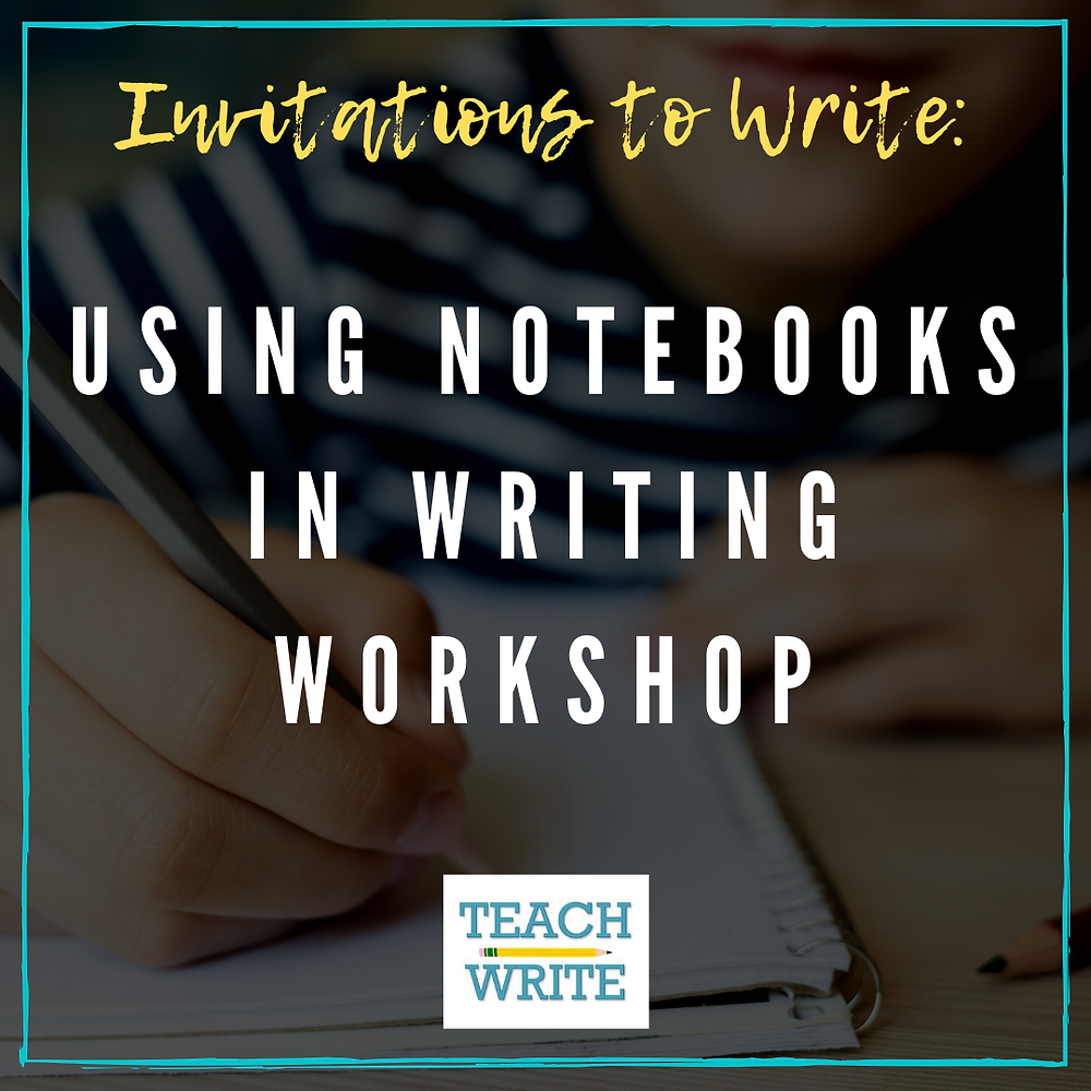 Using Notebooks in Writing Workshop Image