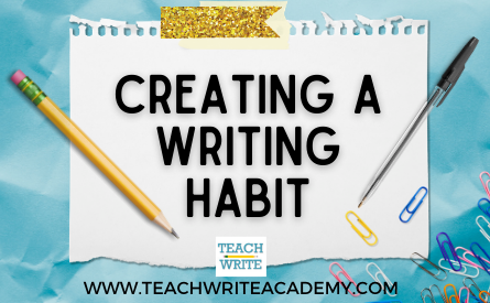 creating a writing habit workshop image