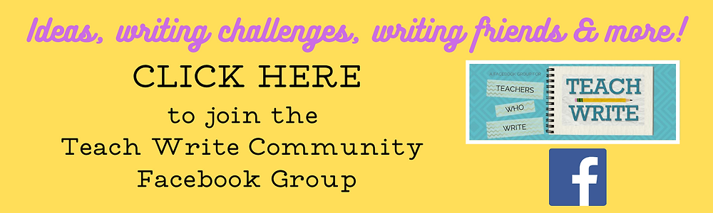 Click here button for Teach Write Community Facebook group