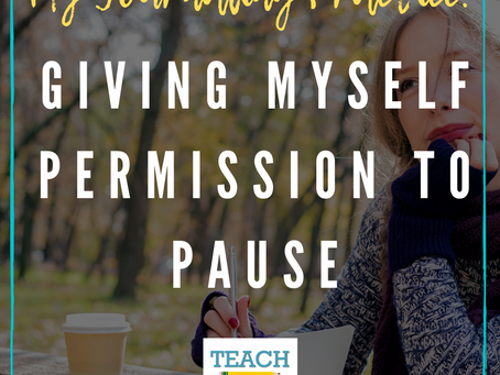Journaling: Giving Myself Permission to Pause
