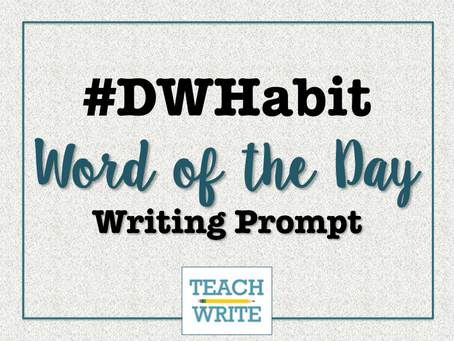 Build Your Daily Writing Habit with #DWHabit