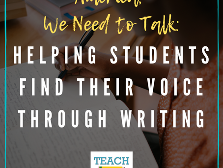 Helping Students Find Their Voice Through Writing by Pamela Fordham
