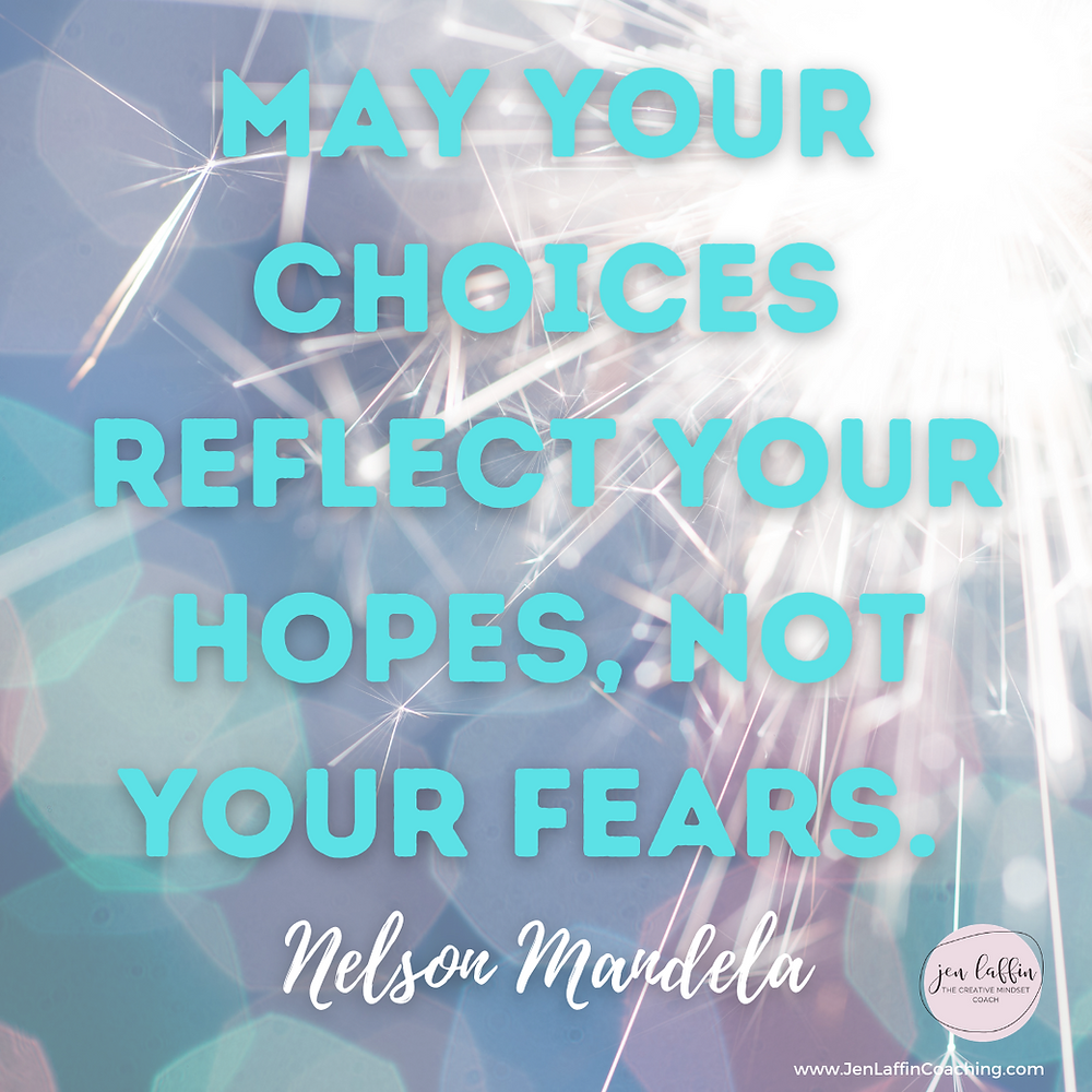 Quote: May your choices reflect your hopes, not your fears