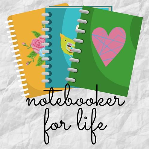 Notebooker for Life Kiss Cut Sticker