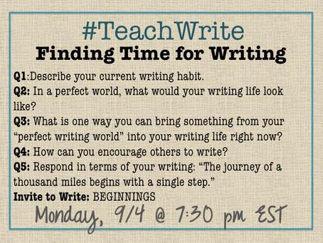 Join Us!: September's #TeachWrite Twitter Chat