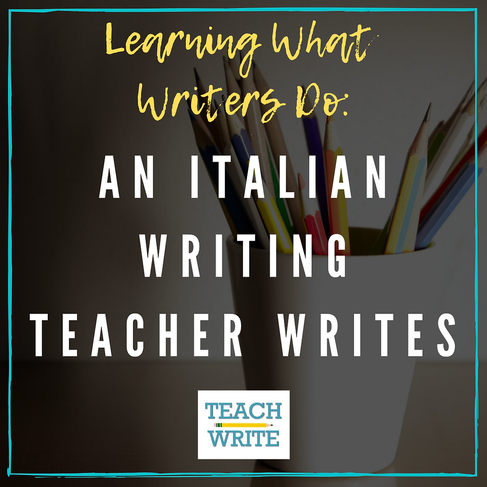 an italian writing teacher writes image