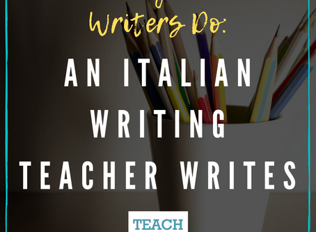 An Italian Writing Teacher Writes by Elisa Golinelli
