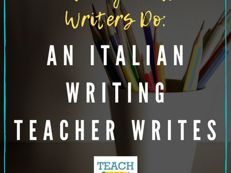 An Italian Writing Teacher Writes by Elisa Golinelli