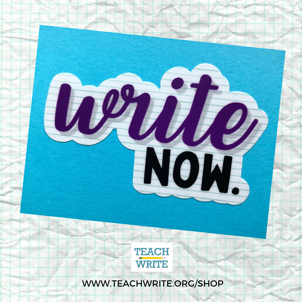 """write now"" writing sticker image"