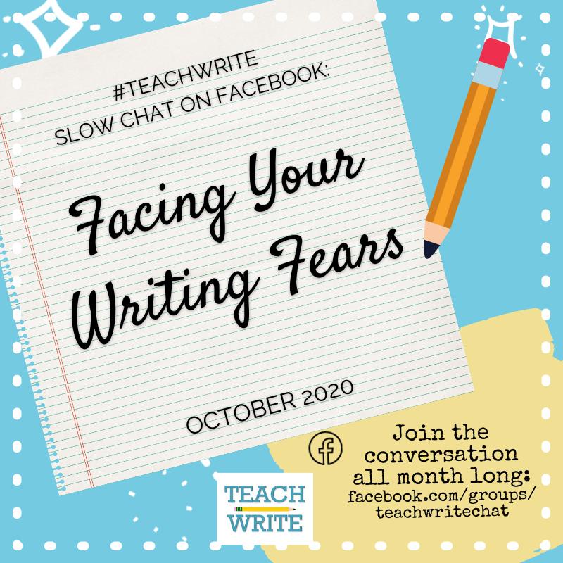 October #TeachWrite chat logo