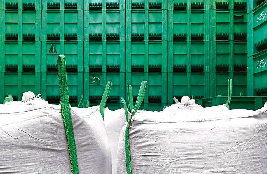 Boxen Behälter Mahlgut BigBags Entsorgung GFR Gesellschaft für Recycling mbH
