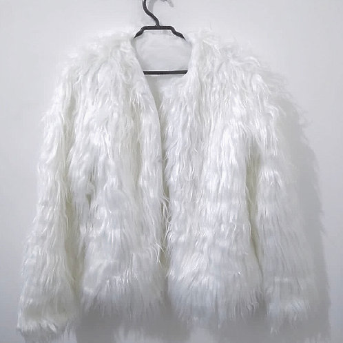 Casaco Pelinhos Branco