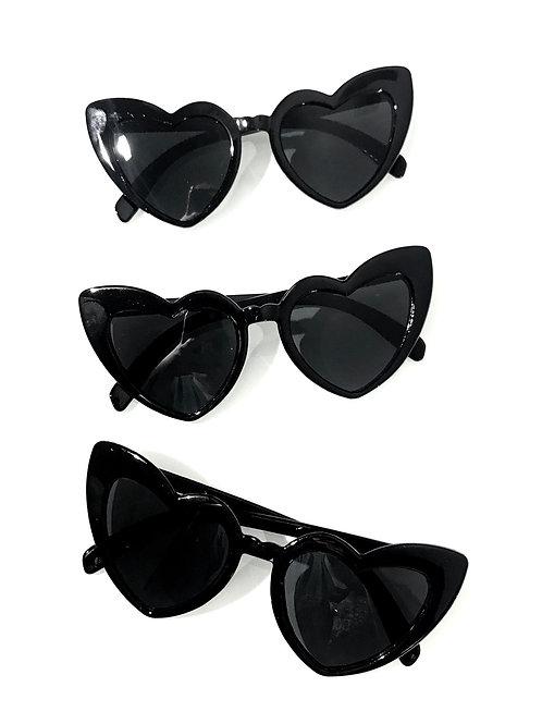 Óculos de sol Coração - Preto