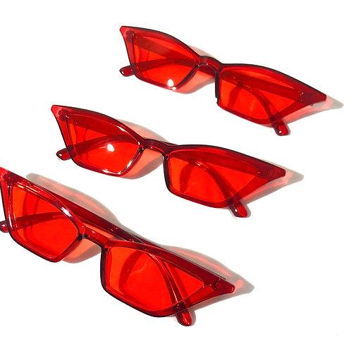 Óculos Pontudo Vermelho