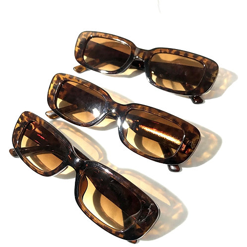 Óculos Retângulo Marrom