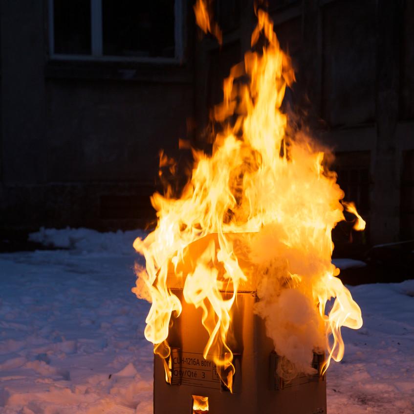 Maison qui brûle test