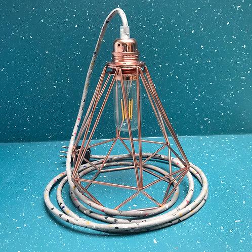 Baladeuse triangle et cage diamant cuivrée