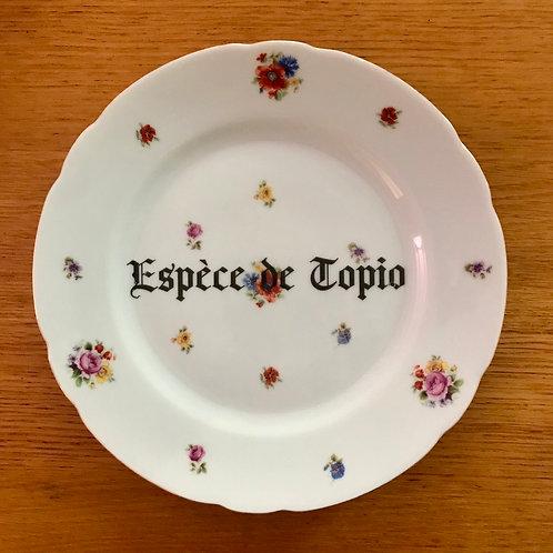"""Assiette """"espèce de topio"""""""