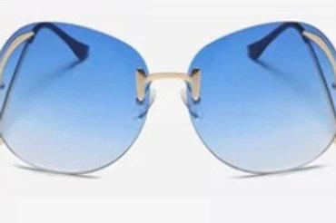 Rimless Bend Leg Sunglasses (Baby Blue)